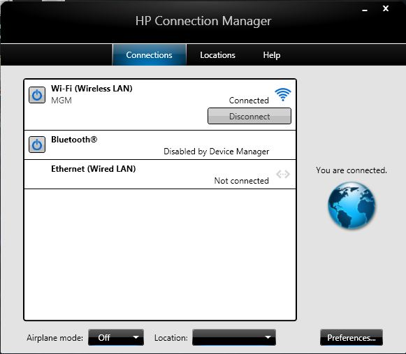 hp connection manager manual uninstall
